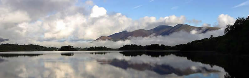 Skiddaw rises to over 3000 feet and dominates the town of Keswick in the Northern Lakes