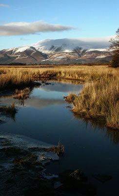 Skiddaw garbed in winter snow