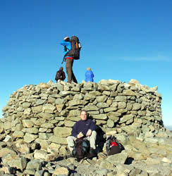 Scafell Pike summit cairn